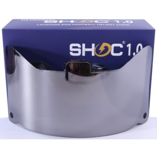 SHOC 1.0 Football Visior/Eyeshield - Chrome Mirror
