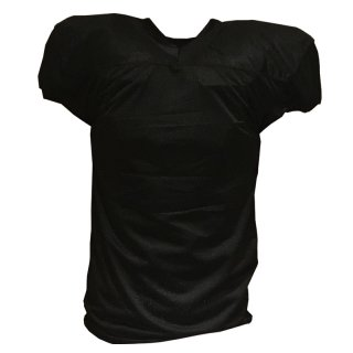 Football Practice Jersey, Short Cut, Black 3XL