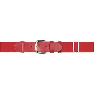 Markwort Elastic Belt with Leather Tab - Red