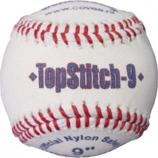 Covee Diamond TopStitch Nylon Softball 9 White