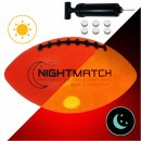 NIGHTMATCH Light Up Football INCL Ball Pump and Spare...