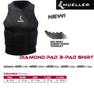 Mueller Diam. 3-Padded Shirt Senior