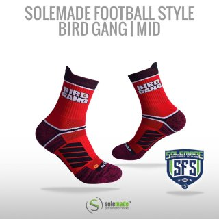 Football Style Socks, Bird Gang , Mid Cut