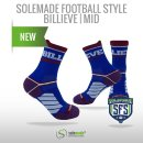 Football Style Socks, Billieve , Mid Cut
