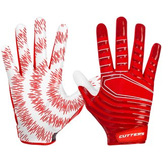 Cutters S252 REV 3.0 Receiver Glove Senior - RED XL